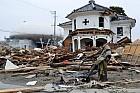 Ishinomaki. Church destroyed by the tsunami