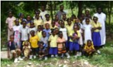 Members St John Chrysostom<br>Orthodox School in Le Cayes, Haiti.