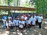 Foyer d'Amour school students <br>in Port-au-Prince, Haiti.