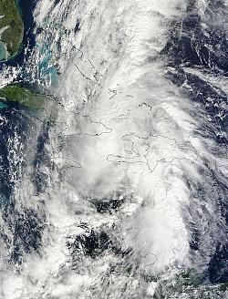 Hurricane Tomas over Haiti, Cuba, Jamaica.<br/>Photo: Nasa