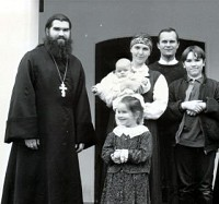 Fr. Andrei Trufanov, died tragically<br/> on Pascha 2004, leaving behind<br/> his Matushka and four children