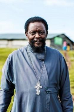 Fr Christopher Walusimbi, Bukasa Island, Uganda.<br/>photo: Alexander Pomnikow