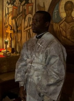 Deacon Augustine Gesnel on the day of ordination.