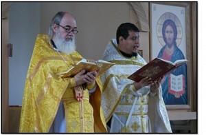 Archpriest Serge Lukianov and Priest Ignacio Miranda