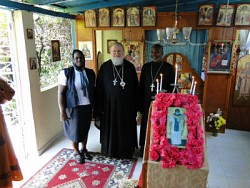 Metropolitan Hilarion with Fr. Gregoire and mat. Rose Legoute
