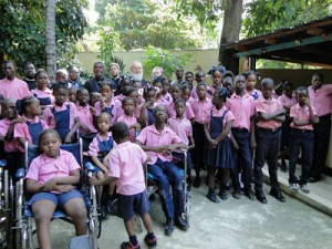 Students at Foyer d'Amour School for mentally and physically handicapped students.
