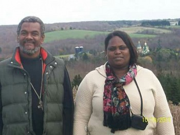 Matushka Rose with her husband Fr Gregoire Legoute (2010) in Jordanville, NY.