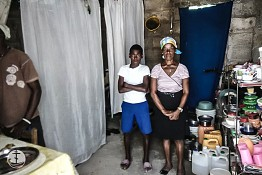 Rachelle is a parishioner of ROCOR's St. John of Shanghai Church in Les Cayes, Haiti, and washes other people's dirty laundry by hand to support her two kids.